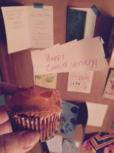 My awesome little made this awesome cupcake in lieu of five years!